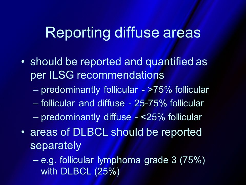 Reporting diffuse areas