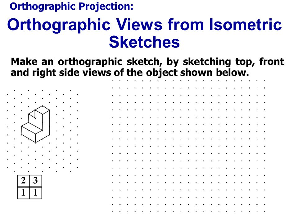 Orthographic Views from Isometric Sketches