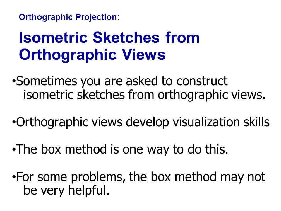 Isometric Sketches from Orthographic Views