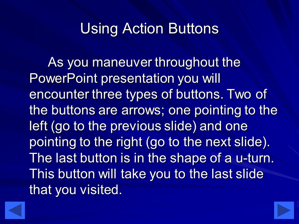 Using Action Buttons