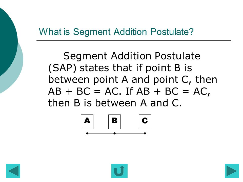 What is Segment Addition Postulate