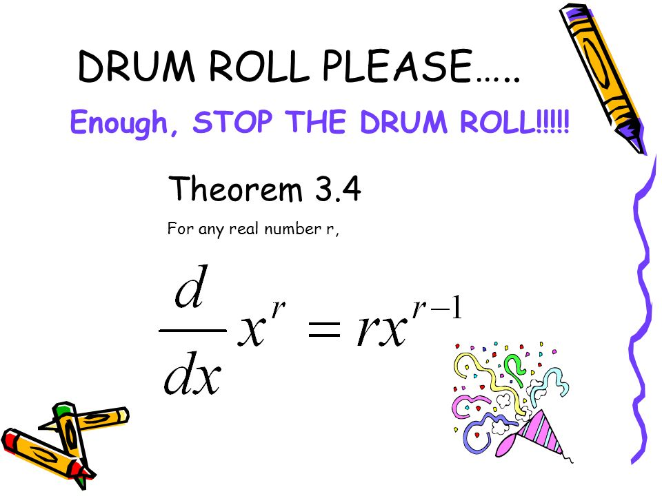 Enough, STOP THE DRUM ROLL!!!!!
