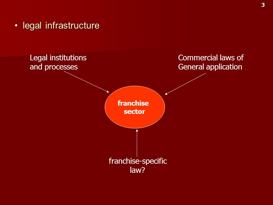 legal infrastructure Legal institutions and processes