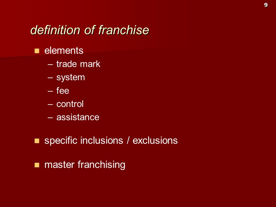 definition of franchise