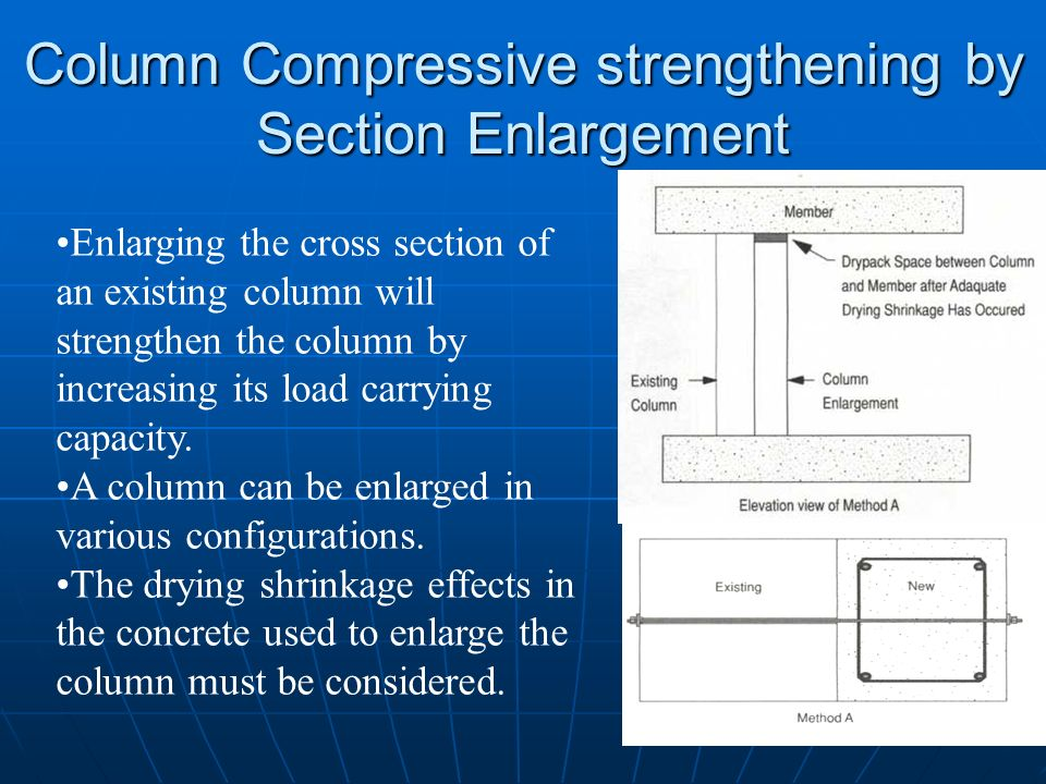 Column Compressive strengthening by Section Enlargement