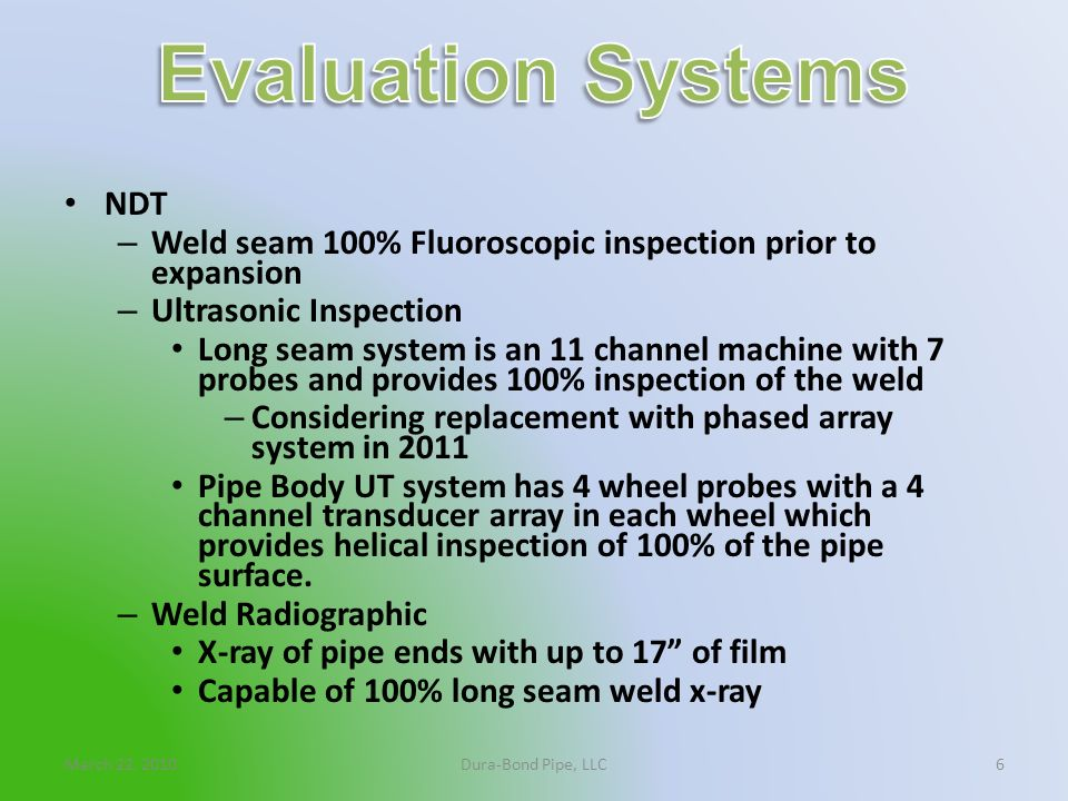 Evaluation Systems NDT