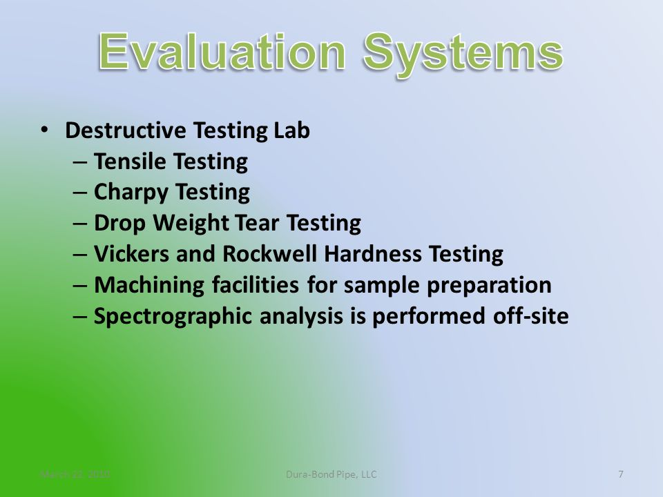Evaluation Systems Destructive Testing Lab Tensile Testing