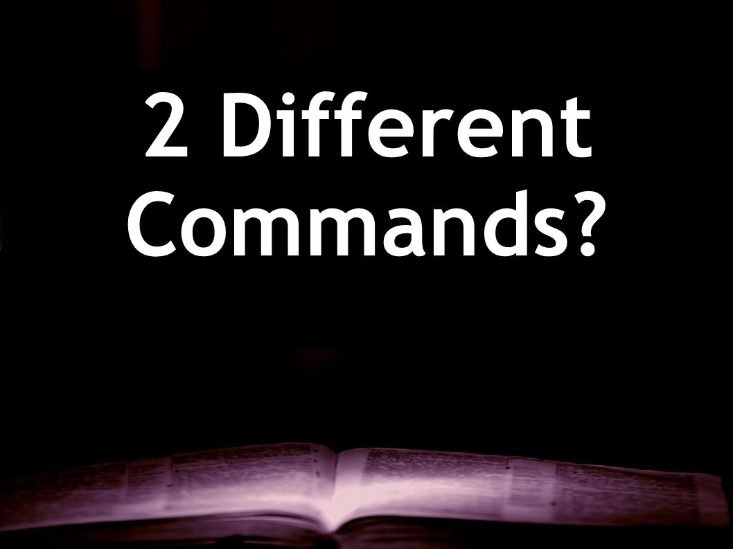 2 Different Commands