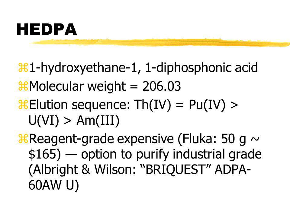 HEDPA 1-hydroxyethane-1, 1-diphosphonic acid Molecular weight = 206.03