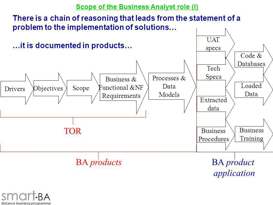 Scope of the Business Analyst role (I)