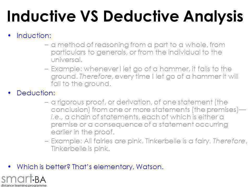 Inductive VS Deductive Analysis