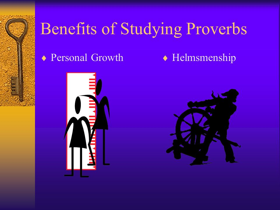 Benefits of Studying Proverbs