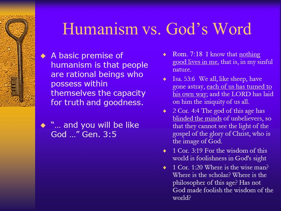 Humanism vs. God's Word