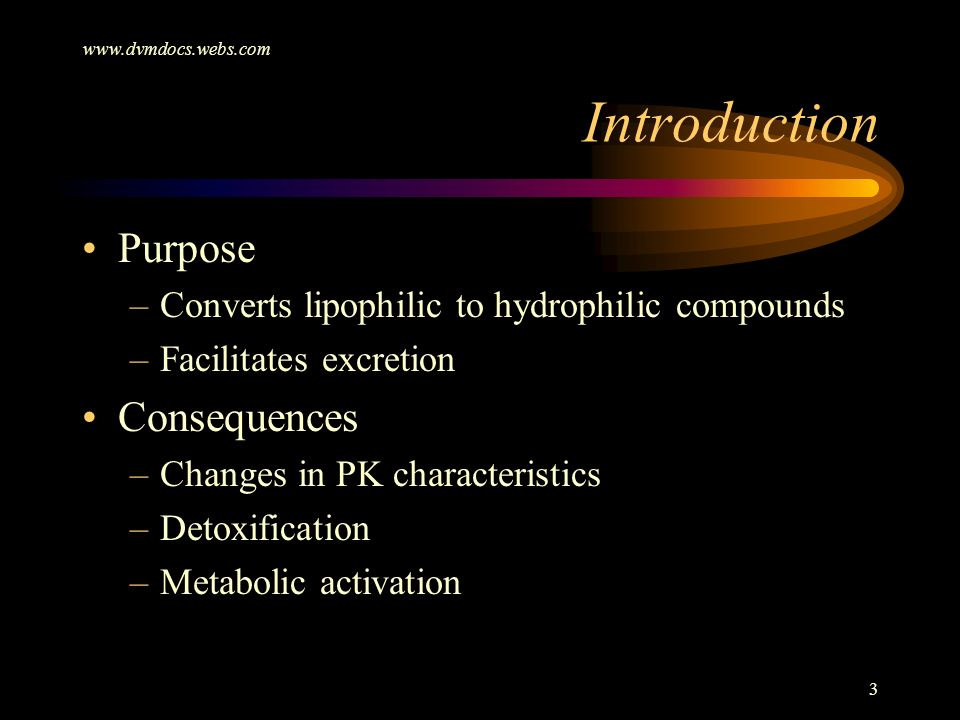 Introduction Purpose Consequences