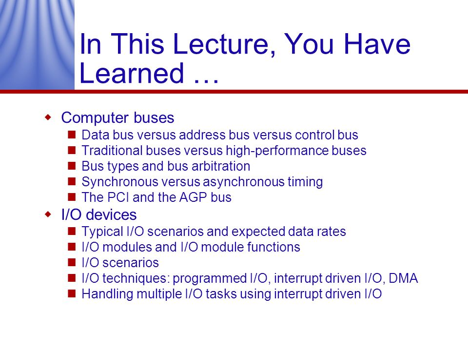 In This Lecture, You Have Learned …