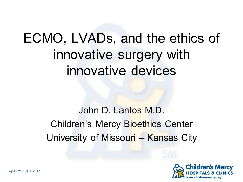 ECMO, LVADs, and the ethics of innovative surgery with innovative devices