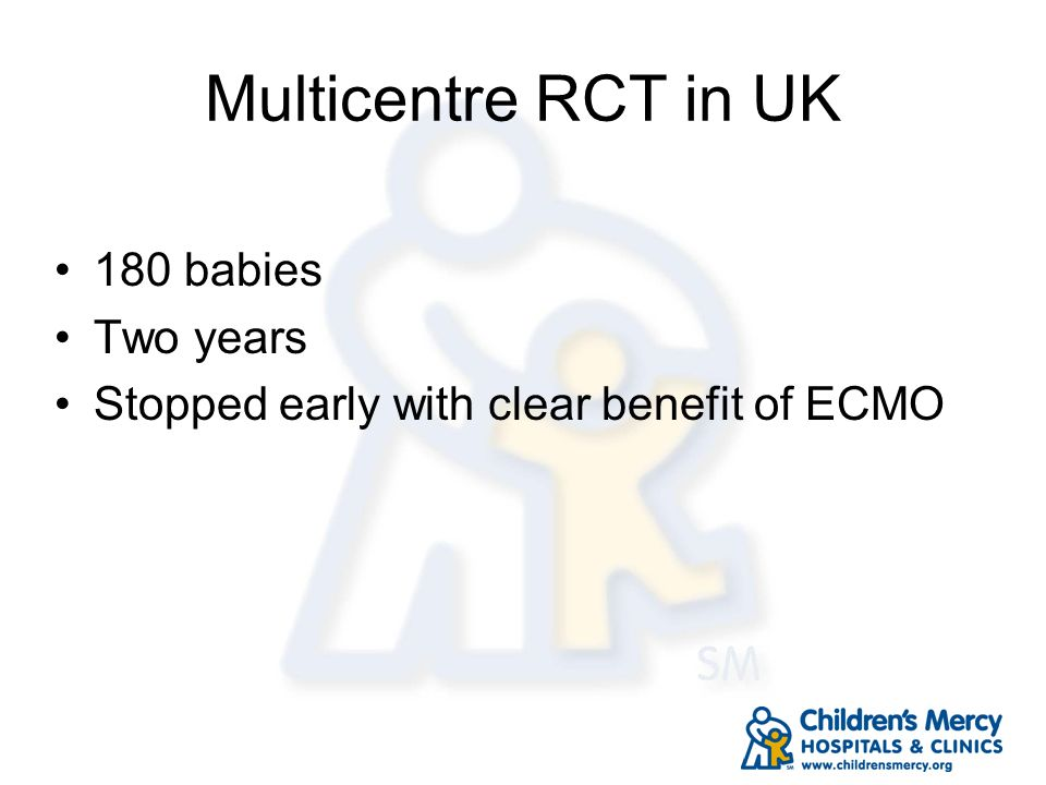 Multicentre RCT in UK 180 babies Two years