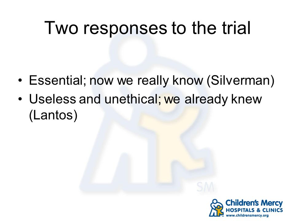 Two responses to the trial