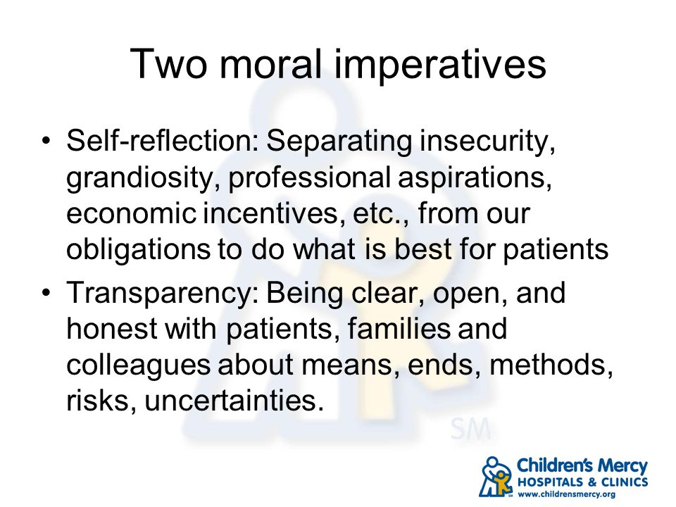 Two moral imperatives