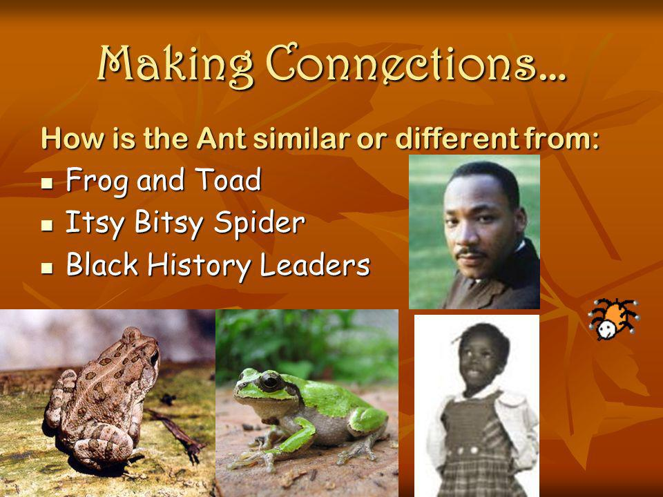 Making Connections… How is the Ant similar or different from: