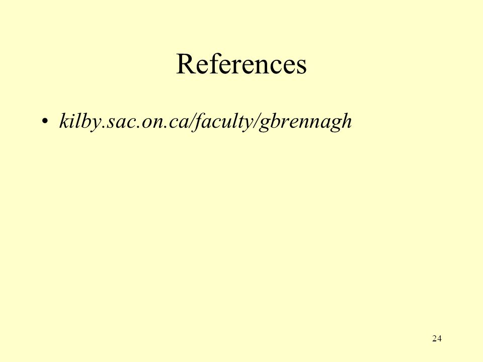 References kilby.sac.on.ca/faculty/gbrennagh