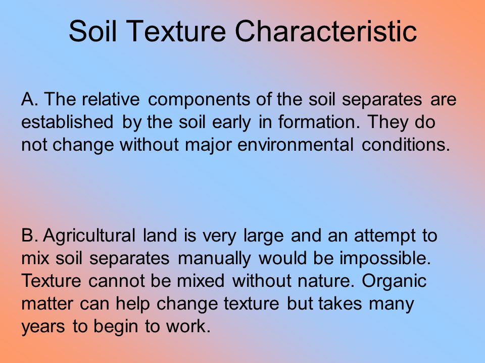 Soil Texture Characteristic