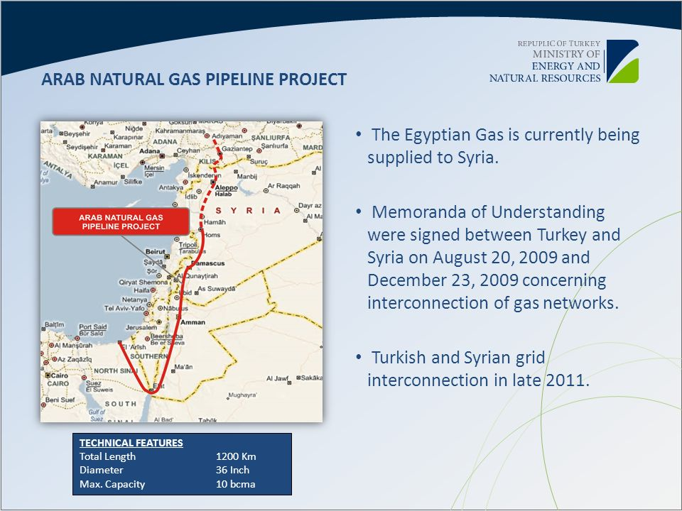 ARAB NATURAL GAS PIPELINE PROJECT
