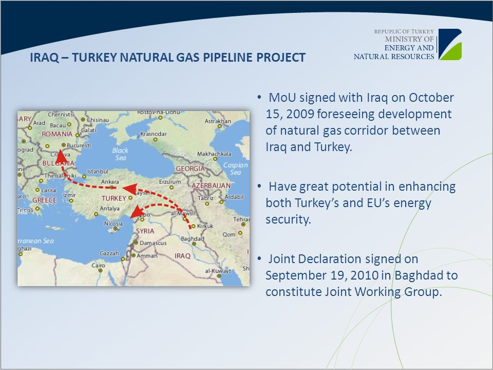 IRAQ – TURKEY NATURAL GAS PIPELINE PROJECT