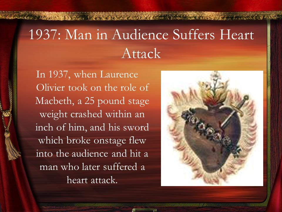 1937: Man in Audience Suffers Heart Attack