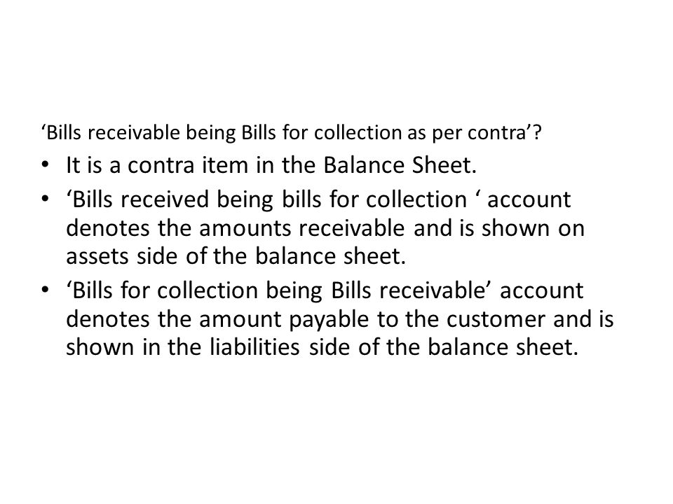 It is a contra item in the Balance Sheet.
