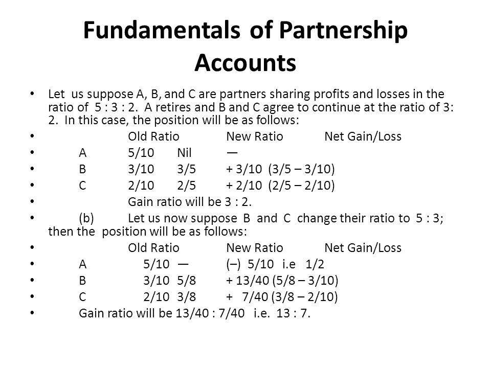 Fundamentals of Partnership Accounts