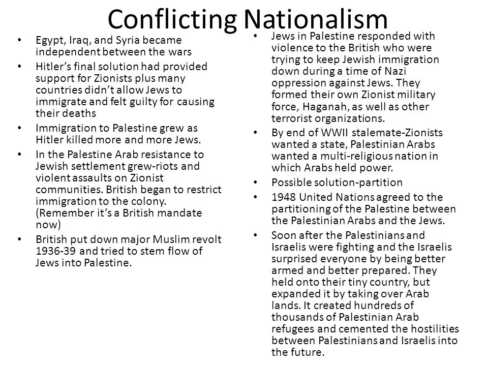 Conflicting Nationalism
