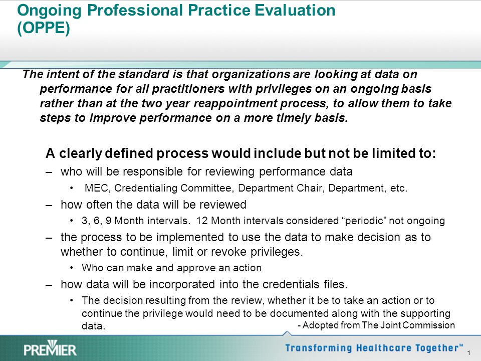 Ongoing Professional Practice Evaluation (OPPE)