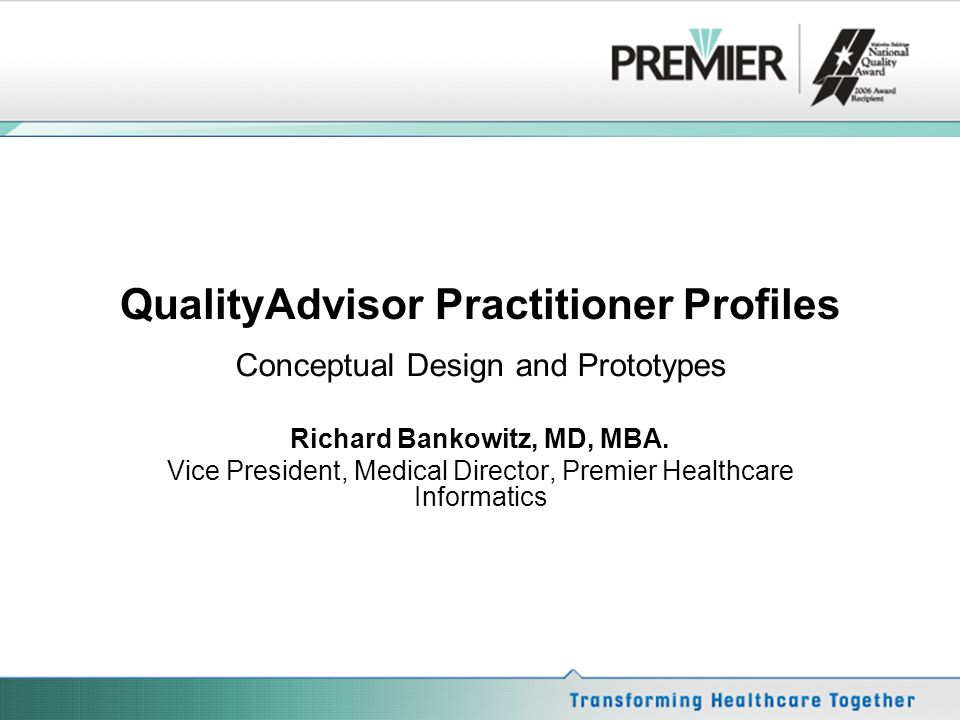 QualityAdvisor Practitioner Profiles