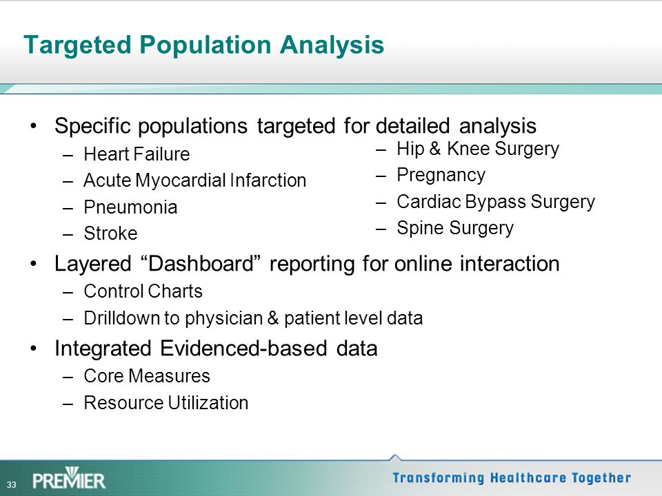 Targeted Population Analysis