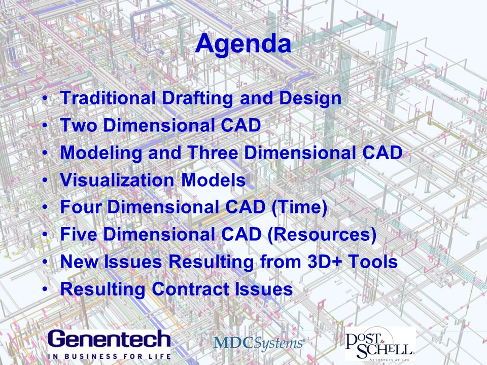 Agenda Traditional Drafting and Design Two Dimensional CAD