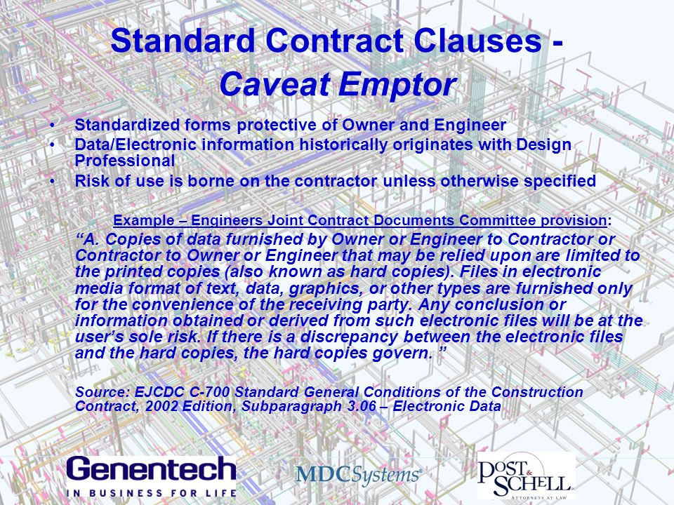 Standard Contract Clauses - Caveat Emptor