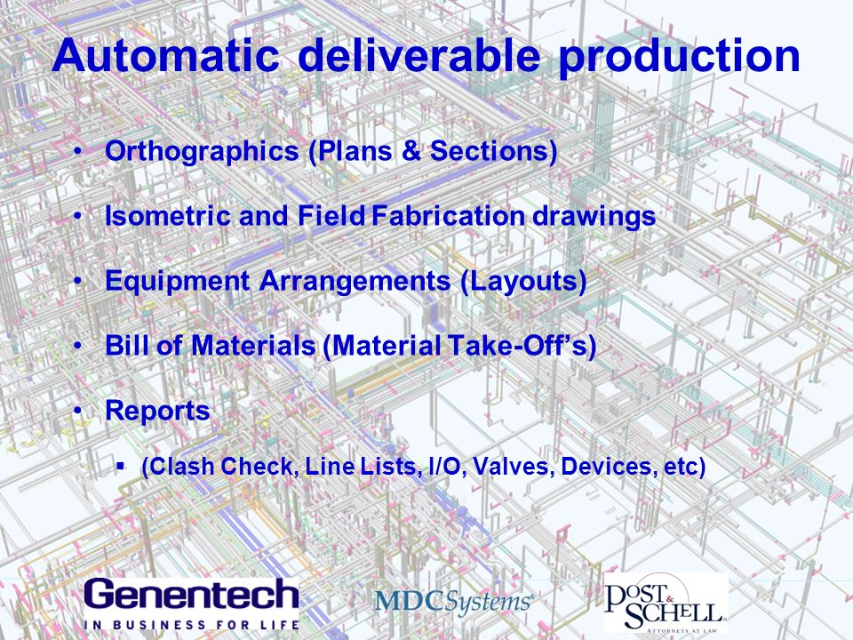 Automatic deliverable production