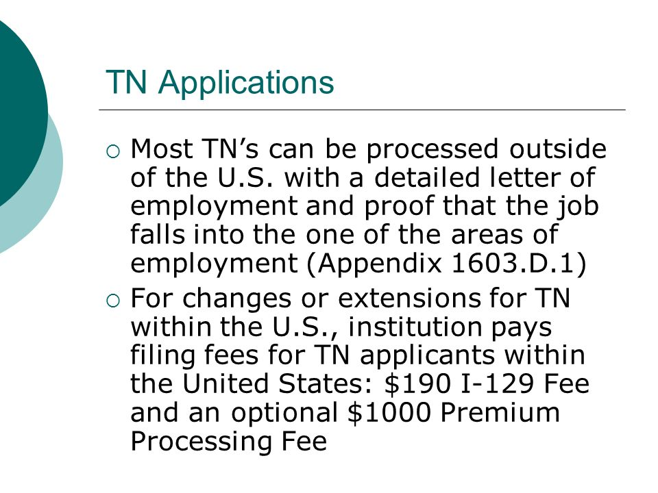 TN Applications