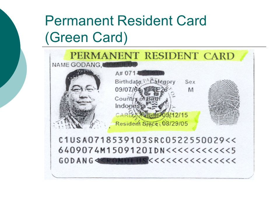 Permanent Resident Card (Green Card)