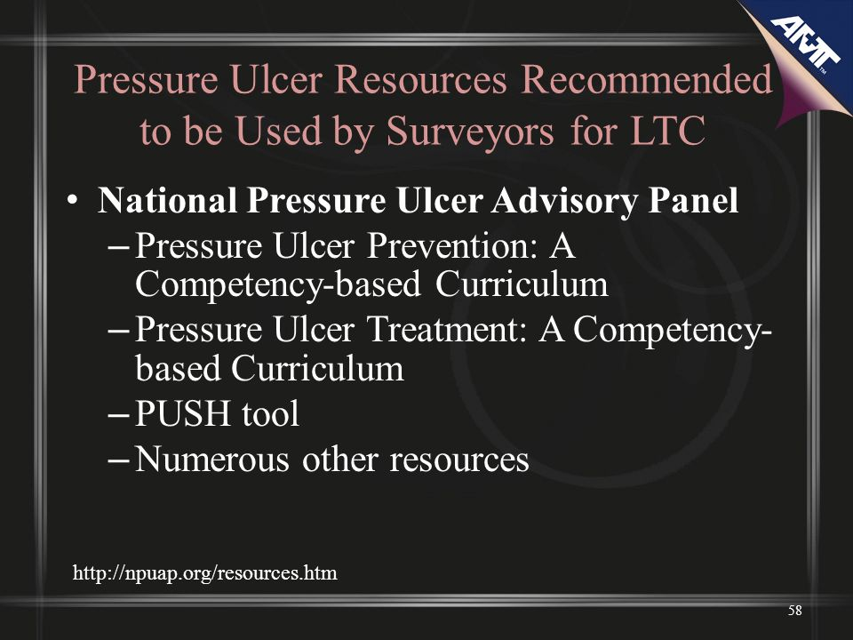 Pressure Ulcer Resources Recommended to be Used by Surveyors for LTC