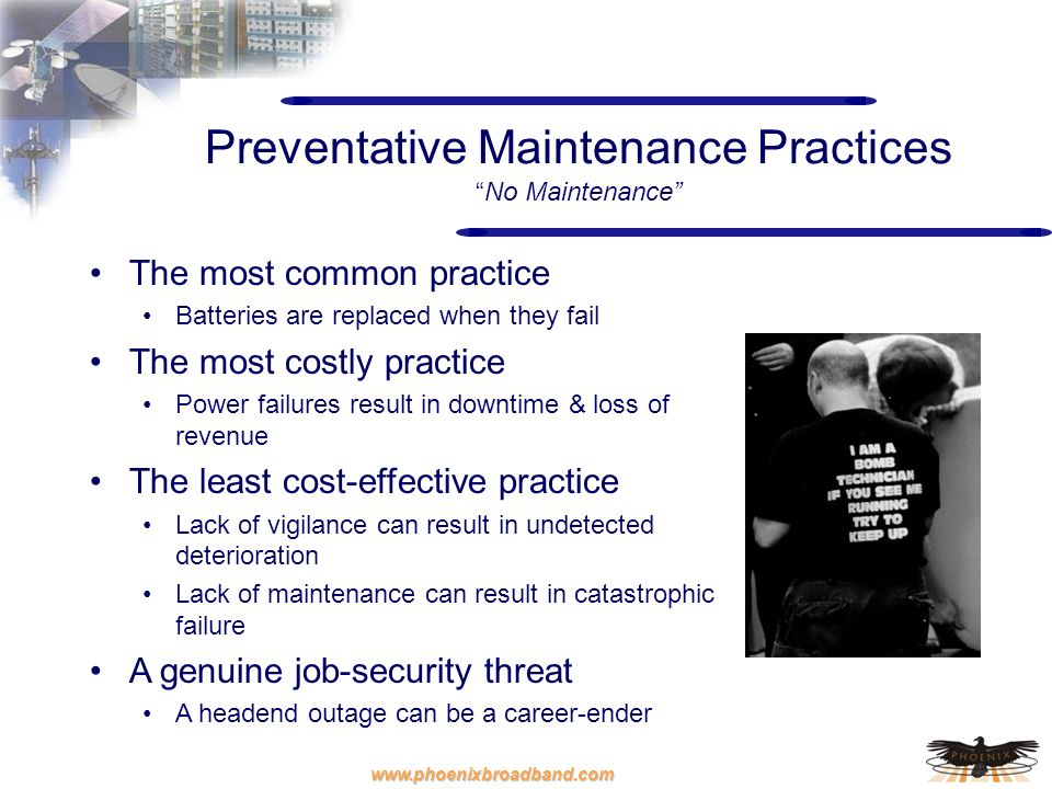 Preventative Maintenance Practices No Maintenance