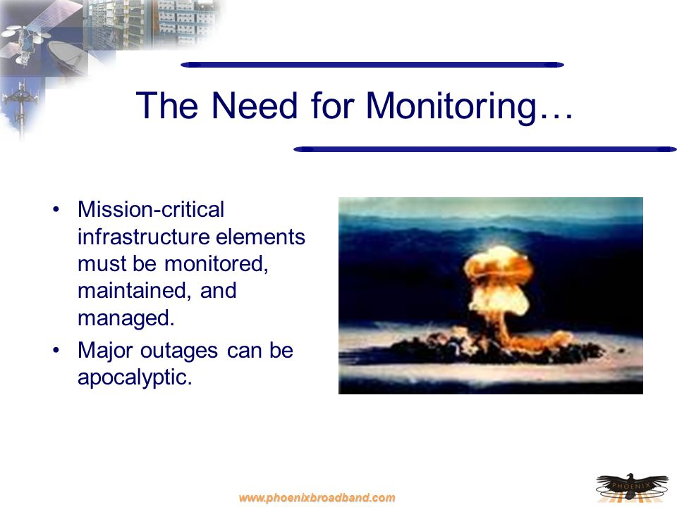 The Need for Monitoring…