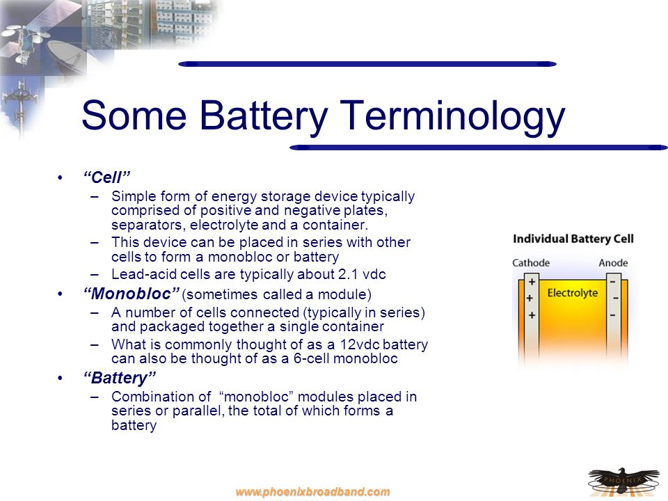 Some Battery Terminology