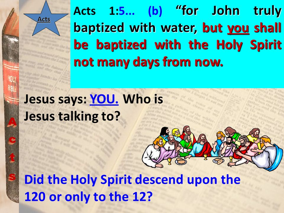 Jesus says: YOU. Who is Jesus talking to