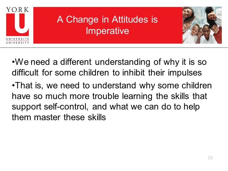 A Change in Attitudes is Imperative