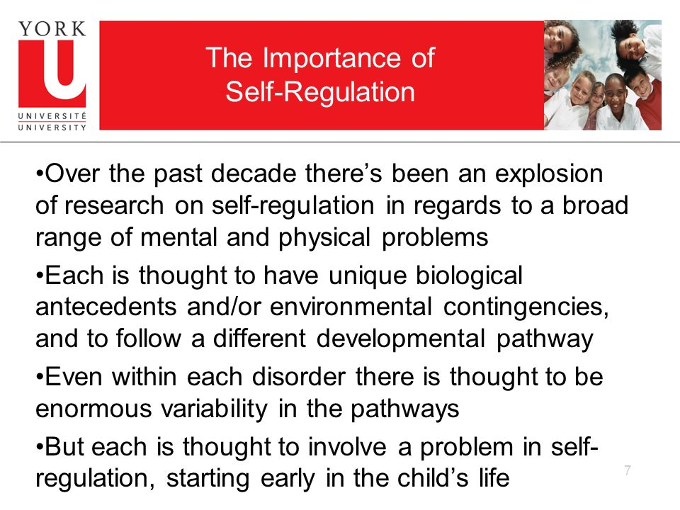 The Importance of Self-Regulation