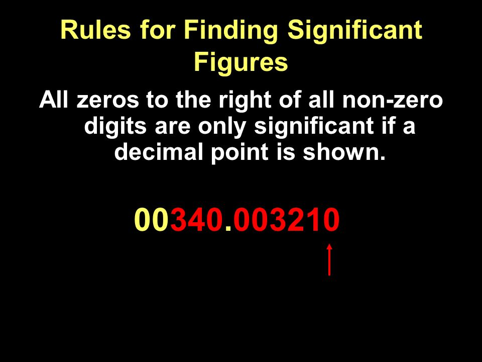 Rules for Finding Significant Figures