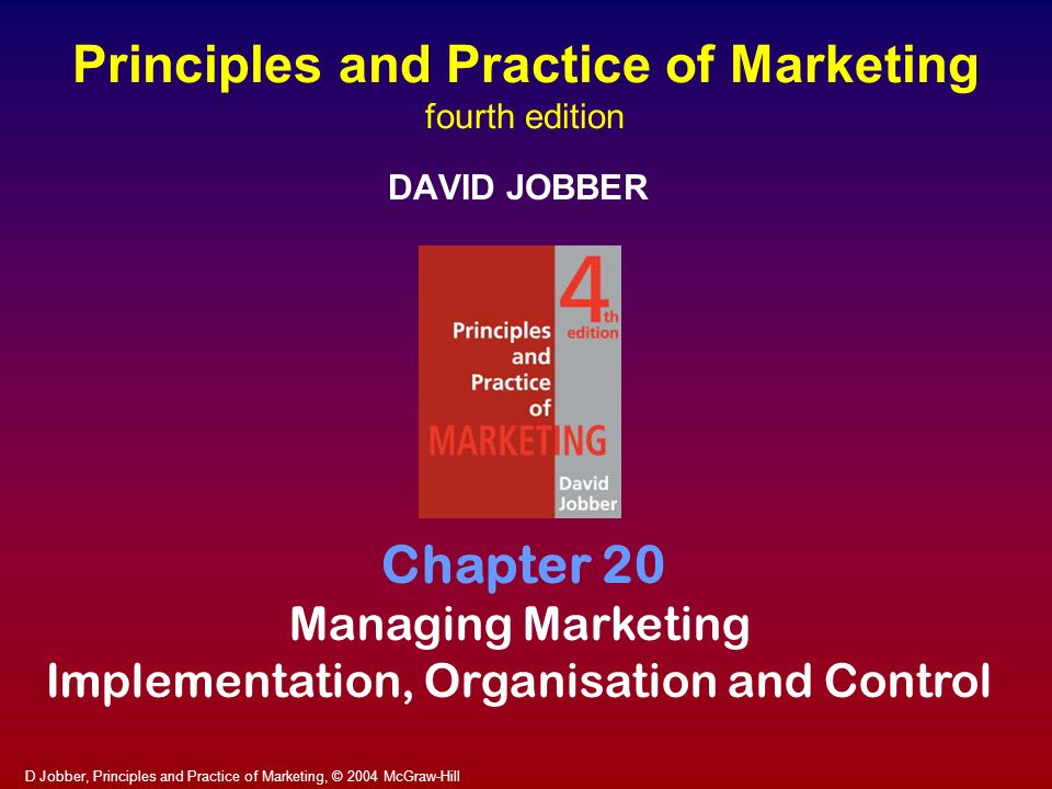 Principles and Practice of Marketing fourth edition