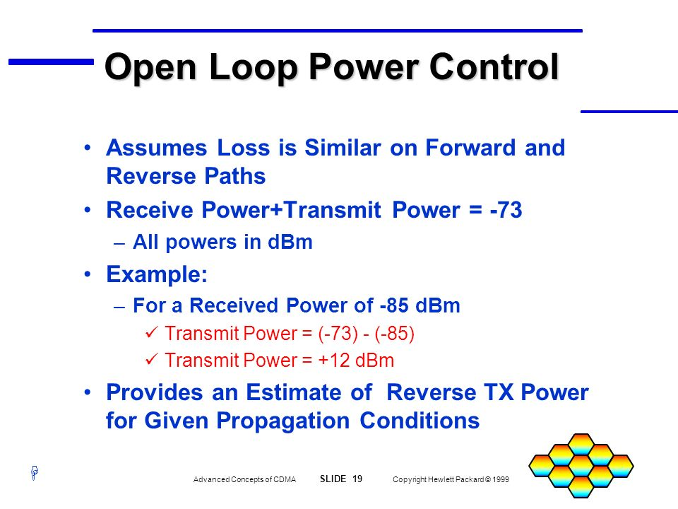 Open Loop Power Control
